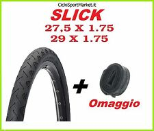 "Copertone Mountain Bike SLICK 29"" x 1.75 - 27,5"" x 1.75 + CAMERA D'ARIA OMAGGIO"