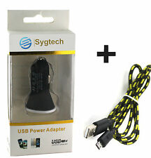 Car Charger with Cable 1M for Samsung,Sony,Micromax,Mi,Xolo,Vivo,Panasonic,Htc.