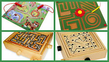 Labyrinth games toys children magnetic wooden maze