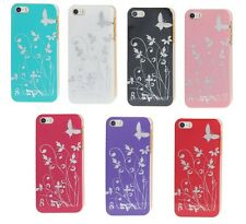 COLORFUL BUTTERFLY PRINTING FLOWER DESIGN BACK HARD CASE COVER IPHONE 5 5S