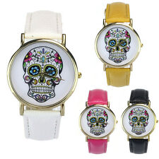 Donne Uomini Watches Speciale Punk Teschio Analogico Watch Cinturino Pelle