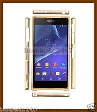 New 0.7mm Ultra Thin Screwless TwoTone Metal Bumper for Sony Xperia Z2 Z 2