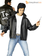 Mens Official Grease T-Birds Jacket Adults T Bird 50's Danny Fancy Dress Costume