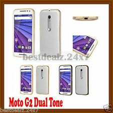 New 0.7mm Ultra Thin Screwless TwoTone Metal Bumper for Motorola Moto G 2nd gen