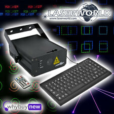 Laserworld EL-500RGB KeyTEX Live Text and Pattern Laser Disco DJ Lighting Effect