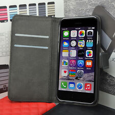 Genuine Real Leather Flip Case Wallet Cover for iPHONE Models SAME DAY Dispatch