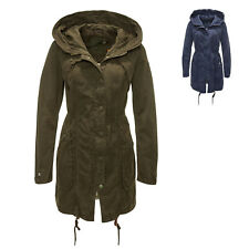 Khujo Damen Long Spring Parka Übergangsjacke Trenchcoat Kapuzenjacke Color Mix