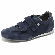 0699L sneakers uomo blu HOGAN olympia velcro scarpe shoes men