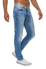 Jack & Jones Herren Jeans Hose Jeanshose Used-Look Medium Blue Denim WOW - 45%