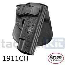 New Fobus Colt 1911 Style Active Retention Holster Paddle & Belt Mounting 1911CH