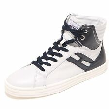 3588I sneakers donna blu HOGAN REBEL hi top polacco scarpe shoes women