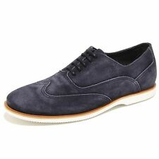 0386N francesina HOGAN scarpe uomo sneaker shoes men blu with vintange effect