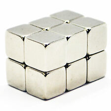 Very Strong 10mm x 10mm x 10mm Industrial Neodymium Cube Block Magnets N35 Grade