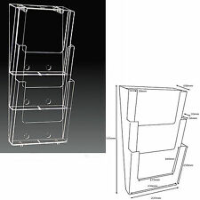 New A4 Multi-Tier Wall Mounted Brochure/Leaflet Holder