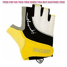YELLOW PAIR CARNAC SUPERLEGGERO SUMMER ROAD RACING/ CYCLING GLOVES MITTS 64% OFF