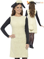 Ladies Shaun the Sheep Costume Adult Wallace and Gromit Fancy Dress Farm Easter