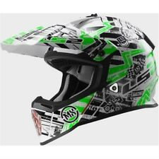 LS2 Casco da motocross - MX437 - QUASI GLITCH - BIANCO-NERO-VERDE ENDURO MX QUAD