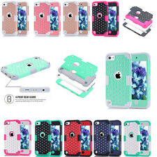 For Apple iPod Touch 6th 5th Generation Gen Case Hybrid Silicone PC Back Cover