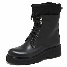 6633N stivale donna PRADA SPORT pelle nero shoes woman boots