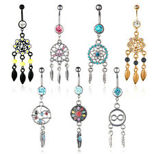 1pc 14g Sexy strass Dreamcatcher ombelico Belly Button Piercing dell'anello