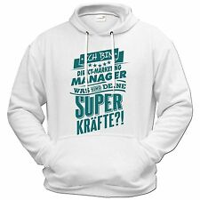 getshirts - RAHMENLOS® Geschenke - Hoodie - Superpower Direct Marketing Manage..