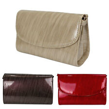 NEW LADIES WEDDING PARTY PROM EVENING CLUTCH HAND BAG PURSE SHOULD BAG SIMPLE