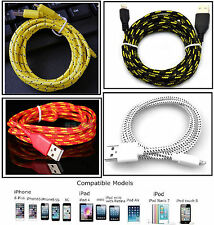 1M Strong Braided USB Lightning Charger Cable for iPhone 5 5C 5S 6 iPad 4 Air