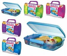 sistema lunch box Bento moveable slide divider 1.7L Clear + Yogurt Port BPA Free