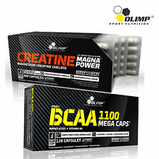 CREATINE MAGNA POWER & BCAA 60-180 CAPS. Whey Anabolic Bodybuilding Muscle Gain