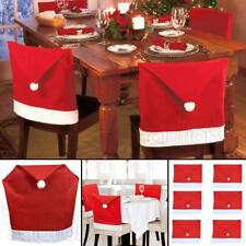 Santa Hat Dining Chair Covers Christmas Party Xmas Table Decoration
