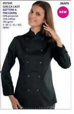 GIACCA CUOCO CHEF ISACCO LADY BOTTONI A PRESSIONE MADE IN ITALY JACKET