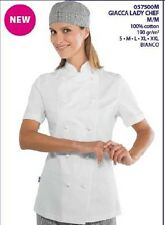 GIACCA CUOCO CHEF ISACCO LADY CHEF 100% COT. M/M MADE IN ITALY JACKET BUNDA