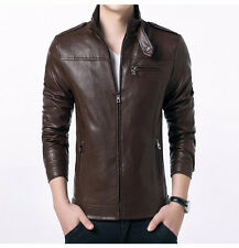 Men's Stylish Slim fit Faux Leather Jacket Dark brown- 282