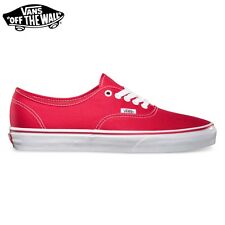 """VANS SHOES CHAUSSURES """"Authentic"""" RED Rouge SKATE Classic Neuf Homme Femme TOILE"""