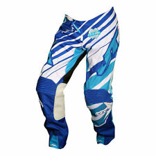 JT RACING Enduro MOTOCROSS PANTALON HYPERLITE PRINTEMPS REMIX bleu-cyan-blanc