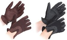 Shires All Day Sports Horse Riding Gloves ALL SIZES **BLACK OR BROWN**