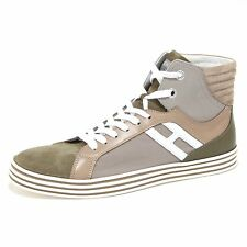 7176N sneaker HOGAN REBEL BASKET verde grigio scarpe uomo shoes men