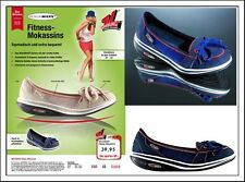 Walkmaxx Fitness Mokassins  - Damen Fitness Schuh -  Blau - 37- 42