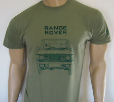 RANGE ROVER T-SHIRT Front-on view - Five sizes available in Olive Green or Khaki
