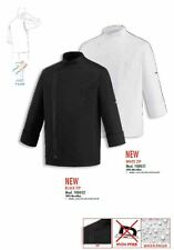 GIACCA CUOCO BLACK WHITE ZIP EGOCHEF EXTRA DRY MADE IN ITALY CHEF JACKET