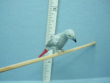 Dollhouse Miniature African Gray Parrot #A1859 Falcon 1/12th scale Made of Resin