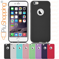 COVER CUSTODIA MORBIDA TPU GEL SILICONE PER IPHONE 6 6S APPLE SLIM VARI COLORI