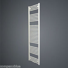 600mm Wide 1856mm High Straight White Heated Towel Rail Radiator Bathroom Warmer