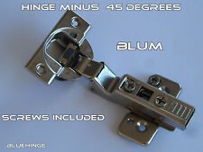 1  CONCEALED KITCHEN CABINET DOOR HINGE MINUS 45 DEGREES   35 mm hole soft close
