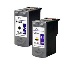 Cartuchos Compatibles Tinta Canon PG-40 CL-41Fax JX200 18ml Negro y Color T49