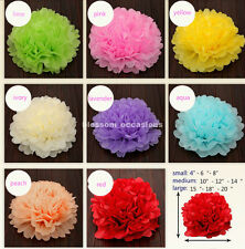 "15pcs mixed 8"" 10"" 15"" wedding party decorations tissue paper pompoms pom poms"