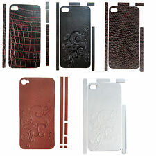 Hand Crafted Genuine Leather Skin for iPhone 4 4s