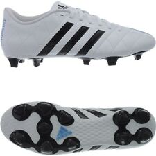 Adidas 11Questra FG men`s football boots white/black/blue firmground studs NEW