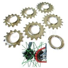 SINGLE SPEED FIXIE TRACK SPROCKET FIXED COG THREADED LOCK RING 13 14 15 16 17 18