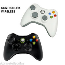 JOYSTICK COMPATIBILE XBOX 360 PC WIRELESS CONTROLLER JOYPAD BIANCO NERO WI-FI